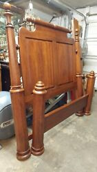 Large Solid Cherry Queen Bed - Lexington Furniture - Grand Beautiful