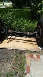 Andnbsp1950 Ford F-7 Truck Axle. Front Axle Incudes Steering Linkage Wheels Tires