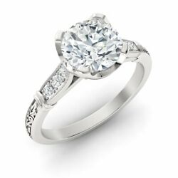 Certified 1.10 Ct White Topaz And Diamond Antique Art Deco Ring In 14k White Gold