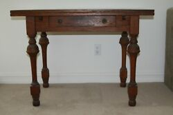 Handsome French Oak Farm Table - 19th Century - France - Imported - Vintage