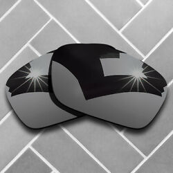 Polarized Black Chrome Mirrored Replacement Lenses for-Oakley Fuel Cell Sunglass