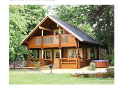 Cabin kit 1288ft 2Story 3Bed Wooden Guest Househome