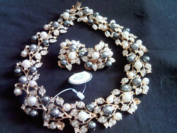 Kenneth Jay Lane Rare 60's Earrings Necklace Set Last Sold At Doyle Gallery Ny