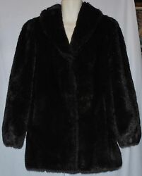 Olympia Ltd Inc Faux Fur Mink Jacket Women's Size Small EUC