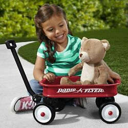 Little Red Toy Wagon, Durable Rolling Wheels For Lasting Quality, Working Handle