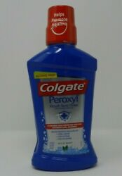 Colgate Peroxyl Mouth Sore Rinse-Healing & Cleanses Mild Mint 16.9 fl oz Sealed