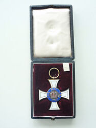 Germany Prussia Order Of The Crown 3rd Class. Made In Gold. Cased. Rare