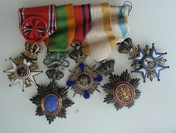 Norway Serbia Annam Cambodia Romania Medal Bar For 5 Medals