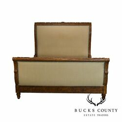 Taylor - King Furniture Custom Faux Painted And Upholstered Queen Sleigh Bed