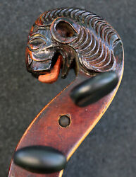 Old 19th Century Lion Germany Violin-listen To The Video- Gorgeous Tone.