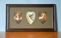 Set Of 3 Pretty Antique Pictures, By Taber Prang Art Co., Framed, 18 X 10