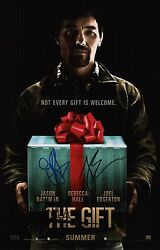 Jason Bateman Joel Edgerton & Rebecca Hall Signed The Gift 11x17 Movie Poster