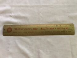 Simon Pure Beer And Ale Vintage Tin Advertising Ruler, Buffalo, N.y.