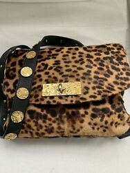 Authentic Designer Christian Louboutin Penny Messenger Pony Hair Bag