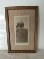 Signed Vintage 1908 Edward S. Curtis Photograph - In The Land Of Apsaroke