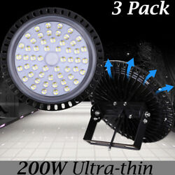 3X 200W UFO LED High Bay Light Super Bright Factory Warehouse Shop Gym Lighting
