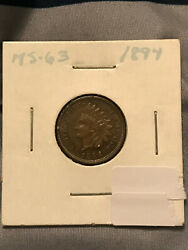 1894-p Indian Head Penny See Pictures For Details And Condition