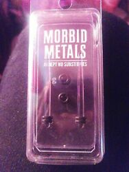 Morbid Metals 8g Tapers And Plugs Acrylic Blue Glitter