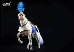 Lucifer 1/6 Silver Metal Armour Animal Clothes Set Lxf1905a1 F White Horse Toy