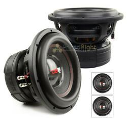 2 Pack DS18 EXL-XXB12.4D 12 Inch Subwoofer 4000 Watts Max Dual 4 Ohm Competition