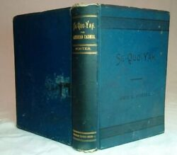Se-quo-yah By Geo E Fosteroffice Indian Rights Assn Cherokee Nation 1885 1st Ed