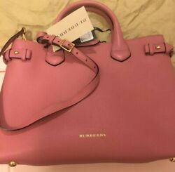 Nwt Banner Satchel Leather Pink