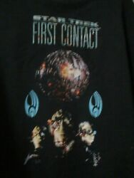 Rare Star Trek First Contact Paramount Pictures Sweatshirt Size Large