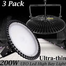 3X 200W UFO LED High Bay Light Warehouse Industrial Commercial Lighting Lamp