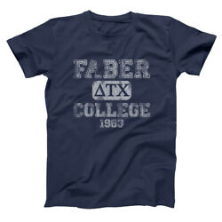 Faber College Funny Animal House Frat Party Navy Basic Menand039s T-shirt
