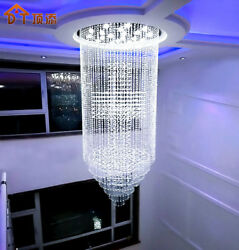 Exhibition Hall Modern Pendant Lamp LED Crystal Chandeliers Lights Room Fixtures