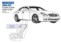 Mercedes Cls55 Cls63 Front Seat Cover Set 2006-11 Oem New