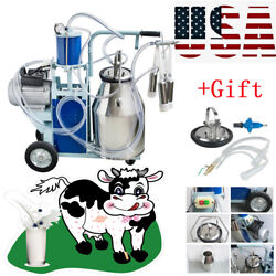 New Electric Milking Machine For Goats Cows Bucket Automatic 25l Farmer Tool Usa