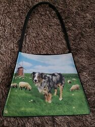 Australian Shepard Purse Bag Women's Handbag - Puppy Dog sheep  $7.51