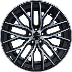 4 Flare 20 Inch Black Rims Et20 Fits Ford Fusion Sel 2006 - 2012