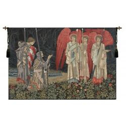 The Vision Holy Grail King Arthur Legend European Woven Tapestry Wall Hanging