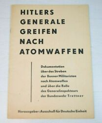 Antique Collectible Wwii Document Magazine German Generals Grab Nuclear Weapons