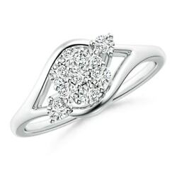 0.47ctw Round Composite Diamond Bypass Ring In 14k Gold/platinum