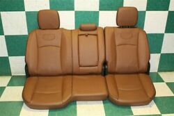 13-18 Ram Longhorn Brown Leather Backseat Heated Upper Lower Cushions Headrests