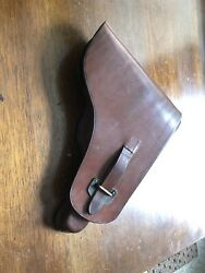 Ultra Rare Excellent Condition Wwii Bulgarian German Luger Holster P.08 Leather