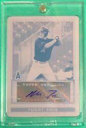 2009 Bowman Chrome Draft MIKE TROUT AUTOGRAPH PRINTING PLATE 11 ANGELS - RC72