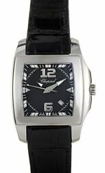 Chopard Two O Ten Tycoon Ladiesand039 Stainless Steel Black On Strap 128464-3001