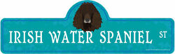 Irish Water Spaniel Street Sign Dog Lover Funny Home Décor 24
