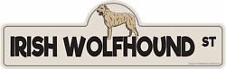 Irish Wolfhound Street Sign Dog Lover Funny Home Décor 24