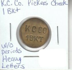 Kirby Canning Co - Trappe Maryland - 1 Bkt, Pickers Check - Heavy Letters