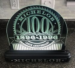 Michelob 100th Anniversary Reverse Glass Backlit Sign Rare Promotional Sign Euc