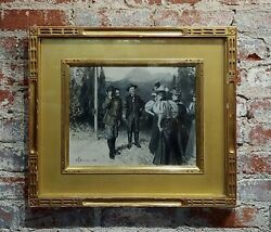 William Thomas Smedley- A Group Of Gentlemen Meet A Group Of Ladies- Painting