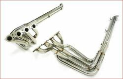 Stainless Mhp Header With S. Pipes For 1965-74 Corvette Big Block 6.5/7.0/7.4l