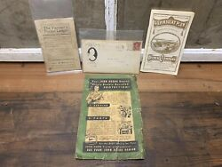 Vintage John Deere Plow Co Deere And Mansur Co Gilpin Sulky Plows Advertising Lot