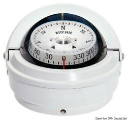 Ritchie Voyager External Compass 3 Inches White/white