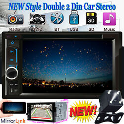 Fit 2005-2015 Ford F150/250/350/450/550 2din Aux Car Dvd Radio Stereo Mirrorlink